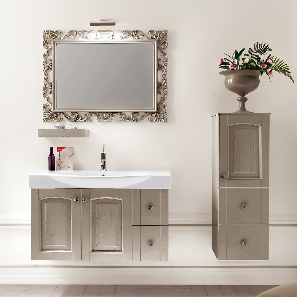 acanthis ac22 - mobile luxury arredo bagno l 97+35 x p 49/38 cm ... - Arredo Bagno Luxury