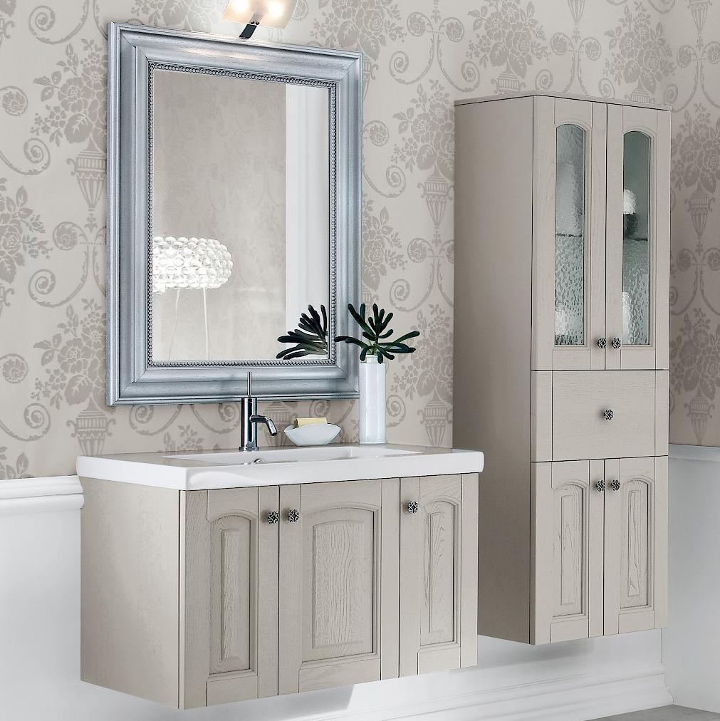 Acanthis ac23 mobile luxury arredo bagno l 86 5 50 x p - Mobile bagno 50 cm ...