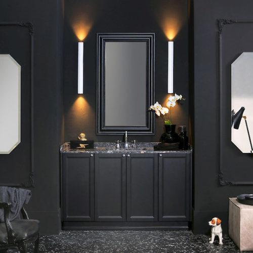 Diamante DM26 - Mobile luxury arredo bagno L 144 x P 51 cm personalizzabile COMPAB