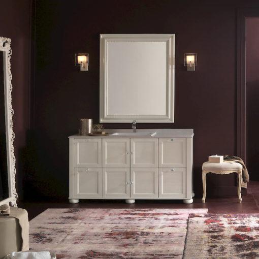 Diamante DM23 - Mobile luxury arredo bagno L 152,4 x P 51,5 cm personalizzabile COMPAB