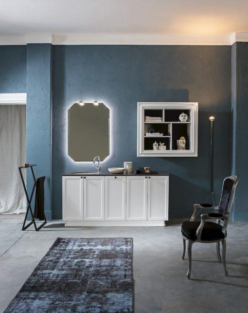 Diamante DM17 - Mobile luxury arredo bagno L 178+105 x P 51,5/26 cm personalizzabile COMPAB