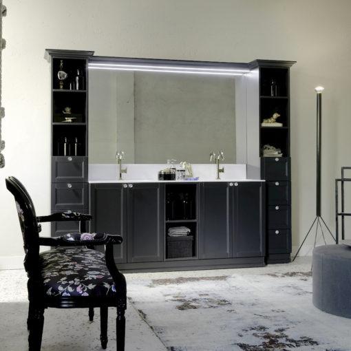 Diamante DM18 - Mobile luxury arredo bagno L 255 x P 54 cm personalizzabile COMPAB
