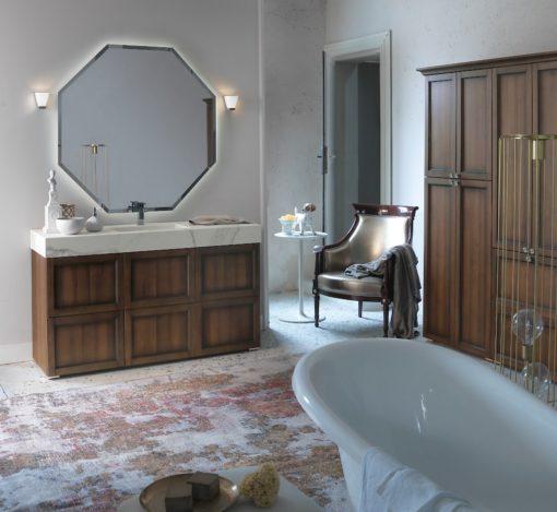 Diamante DM16 - Mobile luxury arredo bagno L 151 x P 51 cm personalizzabile COMPAB