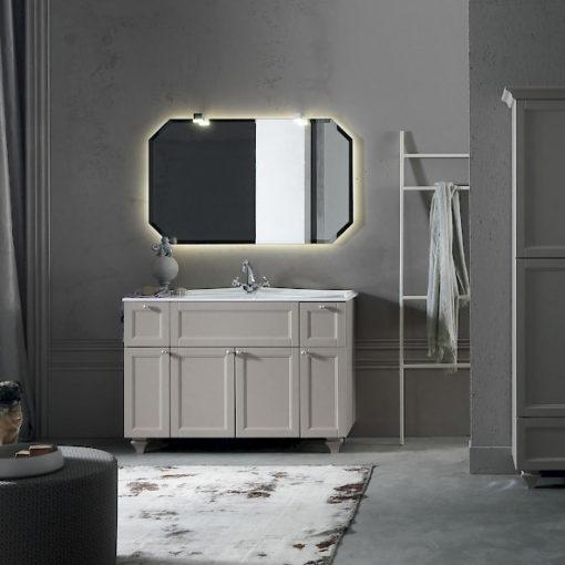 Diamante DM15 - Mobile luxury arredo bagno L 122,5 x P 51,5 cm personalizzabile COMPAB