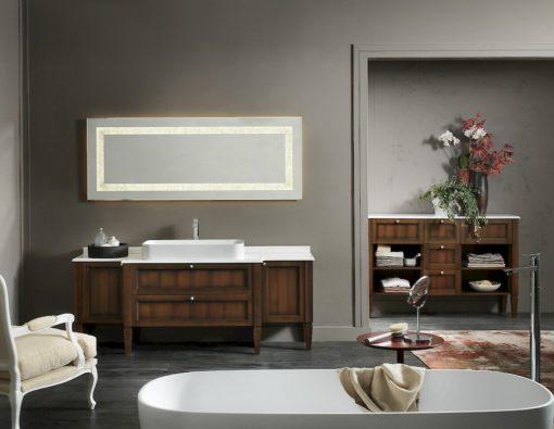 Diamante DM19 - Mobile luxury arredo bagno L 192 x P 51,5 cm personalizzabile COMPAB