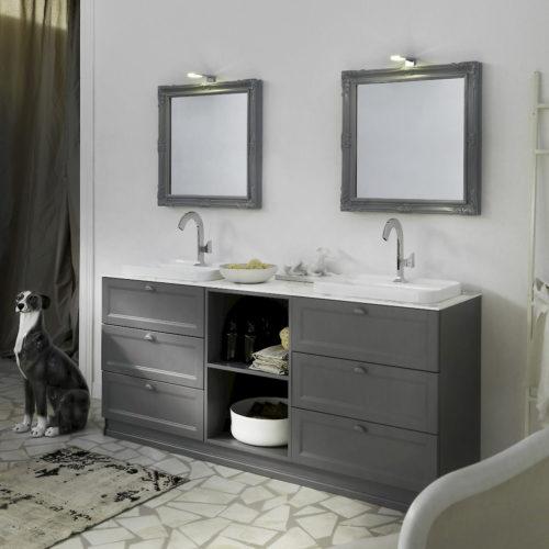 Diamante DM22 - Mobile luxury arredo bagno L 191 x P 51 cm personalizzabile COMPAB