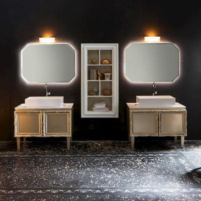 Delichon DH15 - Mobile luxury arredo bagno L 101+101 x P 56 cm personalizzabile COMPAB