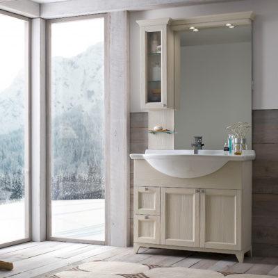 Diamante DM8 - Mobile luxury arredo bagno L 101 x P 52 cm personalizzabile COMPAB