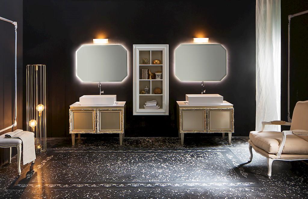 delichon dh15 - mobile luxury arredo bagno l 101+101 x p 56 cm ... - Arredo Bagno Luxury