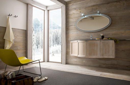 Diamante DM5 - Mobile luxury arredo bagno L 142 x P 21,8/51 cm personalizzabile COMPAB