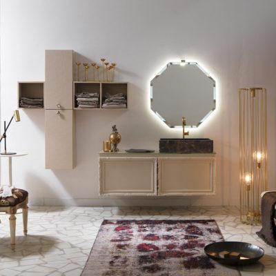 Delichon DH20 - Mobile luxury arredo bagno L 140+141 x P 20,8/56 cm personalizzabile COMPAB