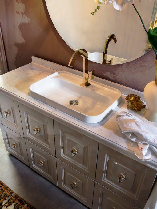 Acanthis AC12 - Mobile luxury arredo bagno L143 x P 51,5 cm personalizzabile COMPAB