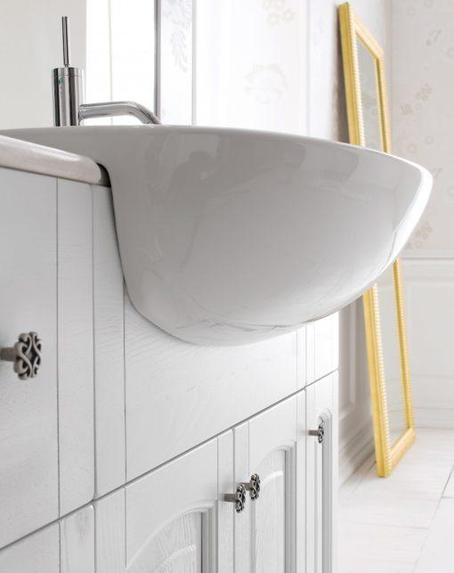 Acanthis AC24 - Mobile luxury arredo bagno L 122 x P 38/66 cm personalizzabile COMPAB