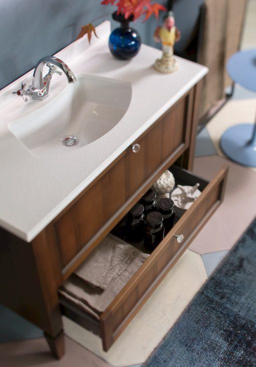 Diamante DM14 - Mobile luxury arredo bagno L 110 x P 51,5 cm personalizzabile COMPAB
