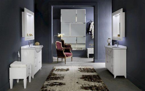 Diamante DM13 - Mobile luxury arredo bagno L 47+100,1 x P 38/52 cm personalizzabile COMPAB