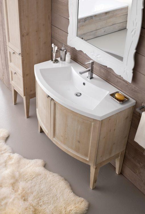 Diamante DM6 - Mobile luxury arredo bagno L 96+35 x P 38/51 cm personalizzabile COMPAB