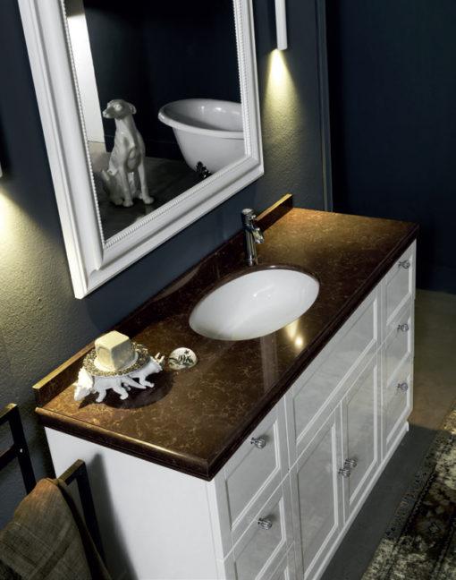 Diamante DM24 - Mobile luxury arredo bagno L 143 x P 51,5 cm personalizzabile COMPAB