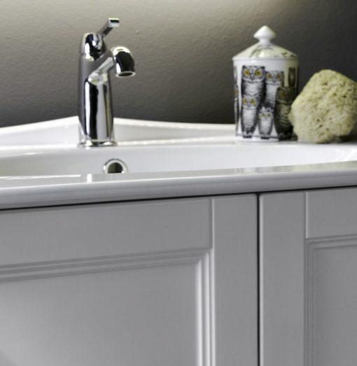 Diamante DM20 - Mobile luxury arredo bagno L 72,2+80 x P 51,5/42 cm personalizzabile COMPAB
