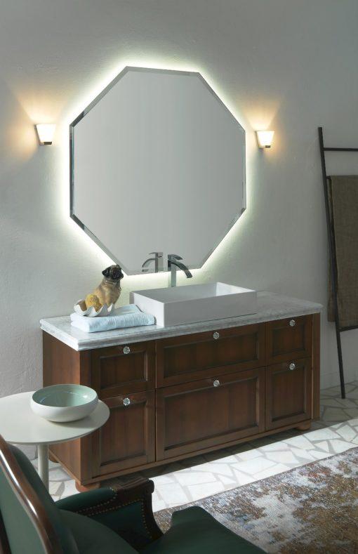 Diamante DM21 - Mobile luxury arredo bagno L 155 x P 51,5 cm personalizzabile COMPAB
