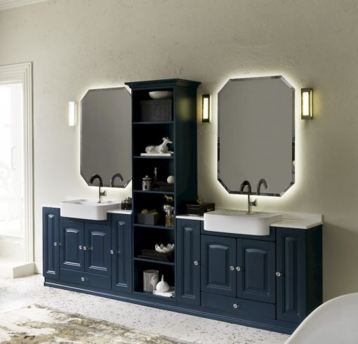 Acanthis AC18 - Mobile luxury arredo bagno L 293 x P 38/42 cm personalizzabile COMPAB