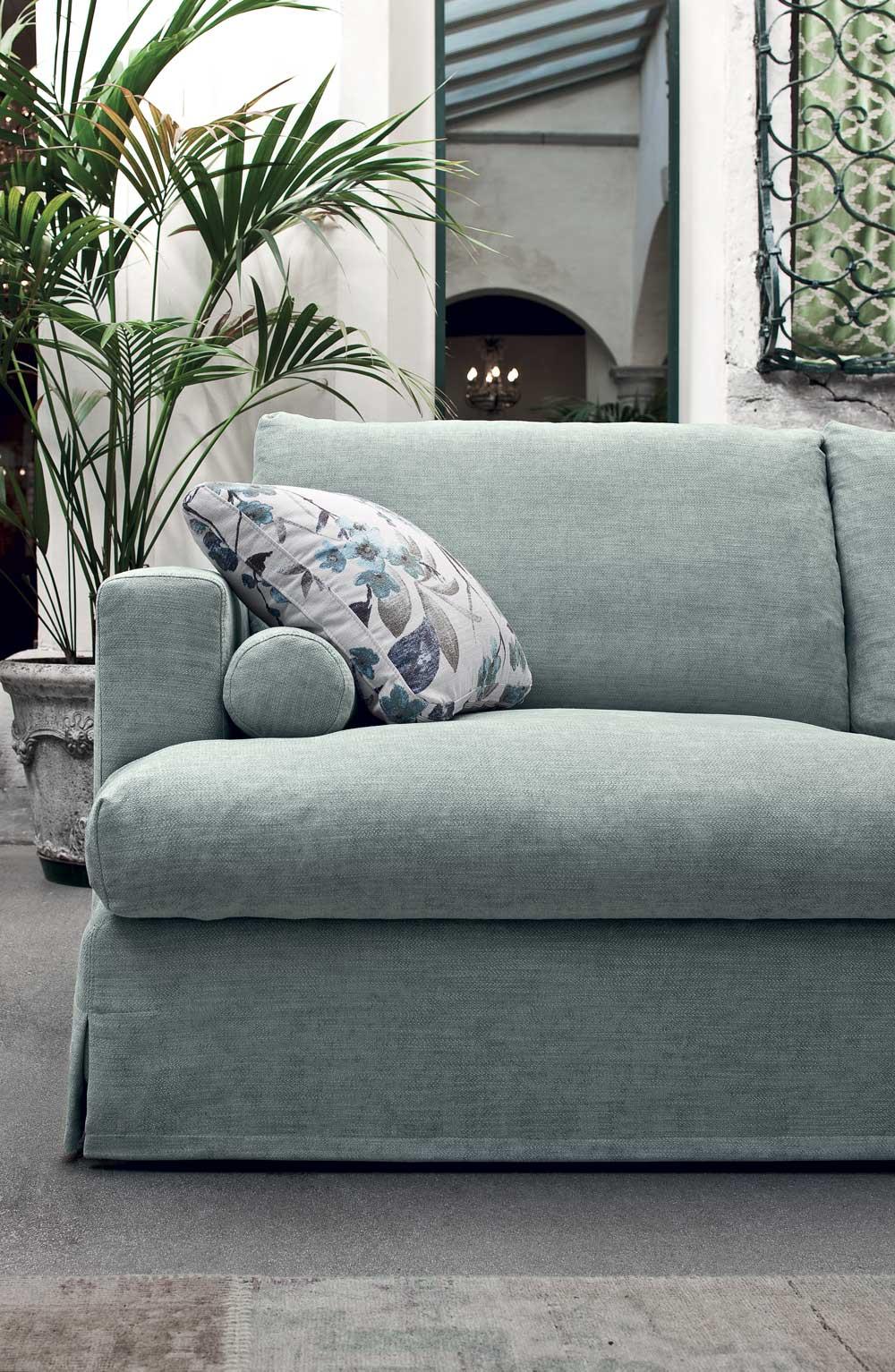 Arizona divano design moderno in tessuto o ecopelle - Divano moderno design ...