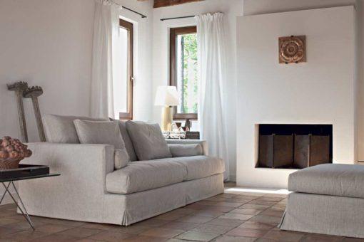 Arizona - Divano design moderno in tessuto o ecopelle