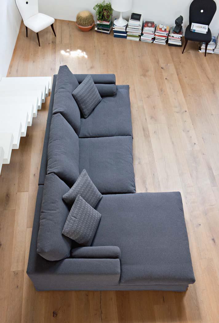 Arizona Divano Design Moderno In Tessuto O Ecopelle 100