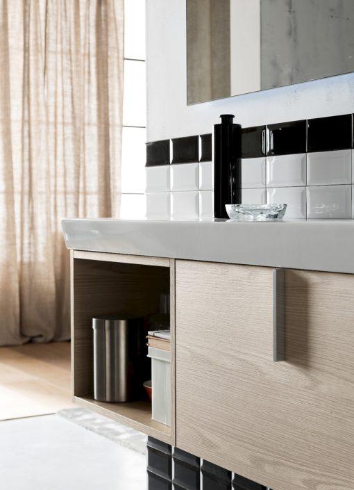 B201 Life B201 67 - Mobile arredo bagno design L.121 x P 40 cm personalizzabile COMPAB