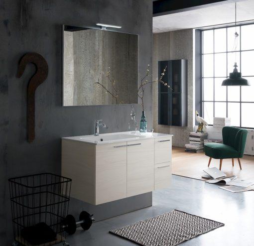 B201 Life B201 68 - Mobile arredo bagno design L 95,5 x P 51,5 cm personalizzabile COMPAB