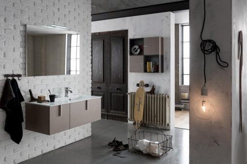 B201 Life B201 69 - Mobile arredo bagno design L 105,5+70 x P 51,5/20,8 cm personalizzabile COMPAB