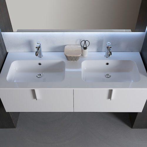 B201 Life B201 70 - Mobile arredo bagno design L 140,5 x P 51,5 cm personalizzabile COMPAB