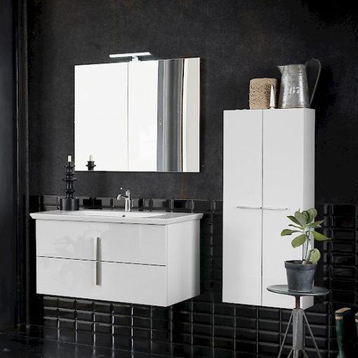 B201 72 Life - Mobile arredo bagno design L 100,5+50 x P 54/20,8 cm personalizzabile COMPAB