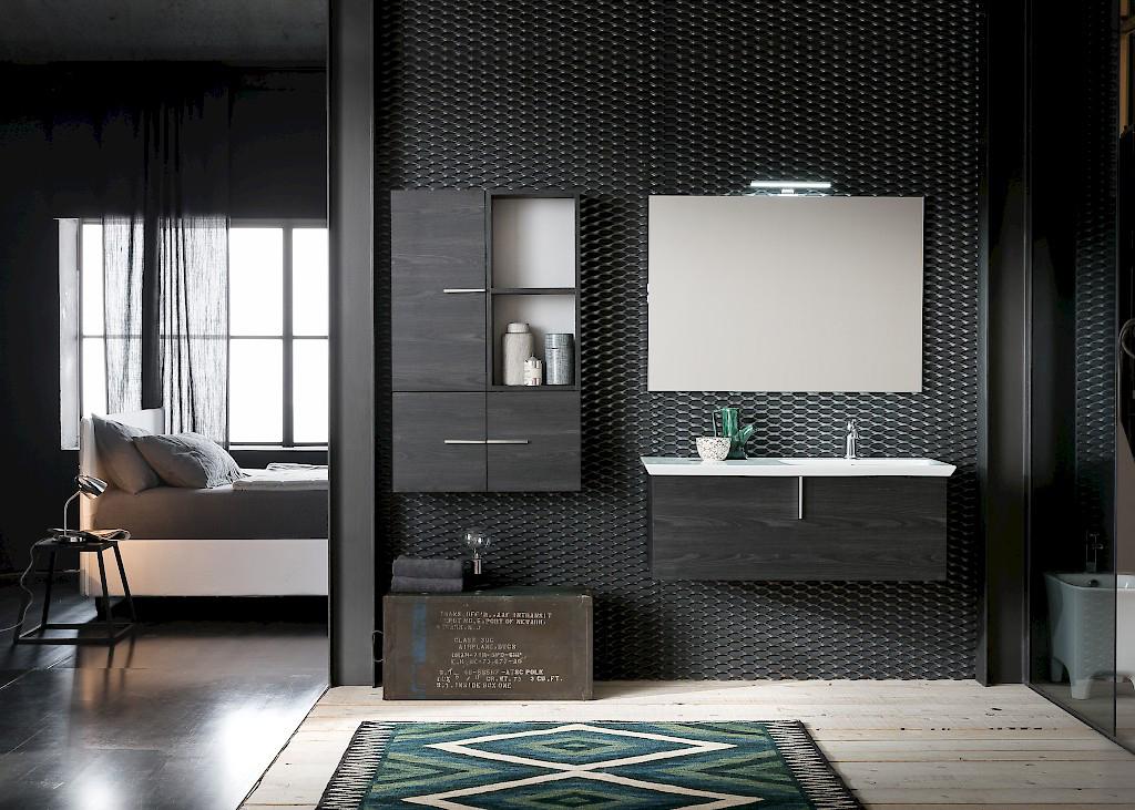 B201 73 Life - Mobile arredo bagno design L 70+110,5 x P 20,8/54 cm ...
