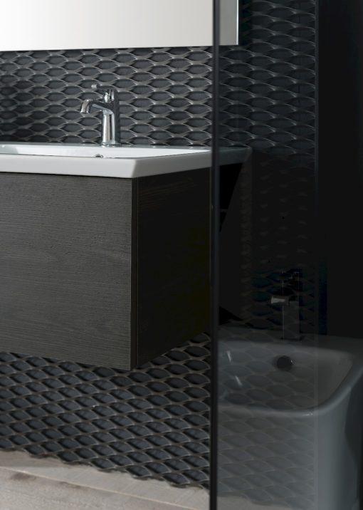 B201 73 Life - Mobile arredo bagno design L 70+110,5 x P 20,8/54 cm personalizzabile COMPAB