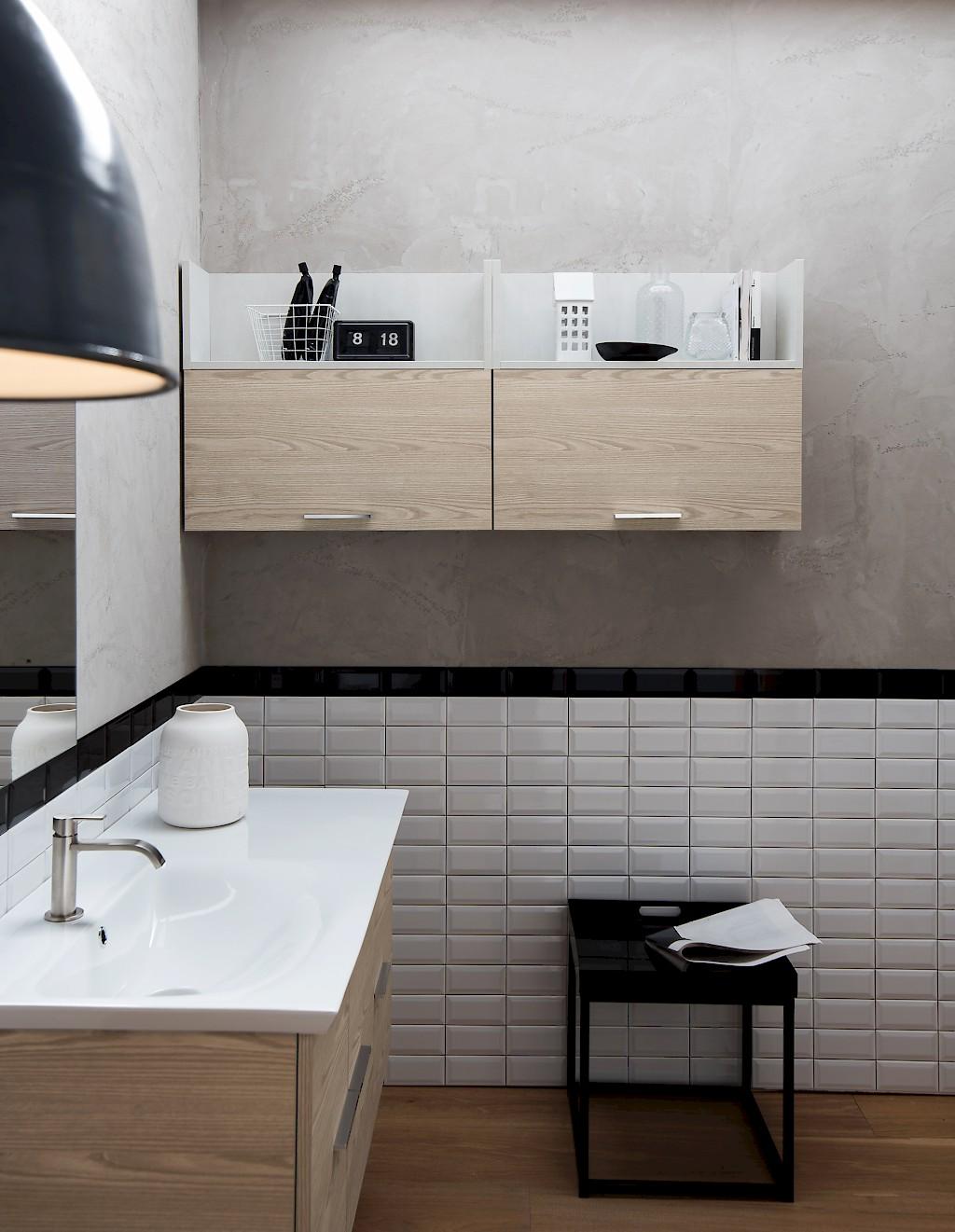 B201 74 life mobile arredo bagno design l 110 5 140 x p 54 20 8 cm personalizzabile compab - Bagno largo 110 cm ...
