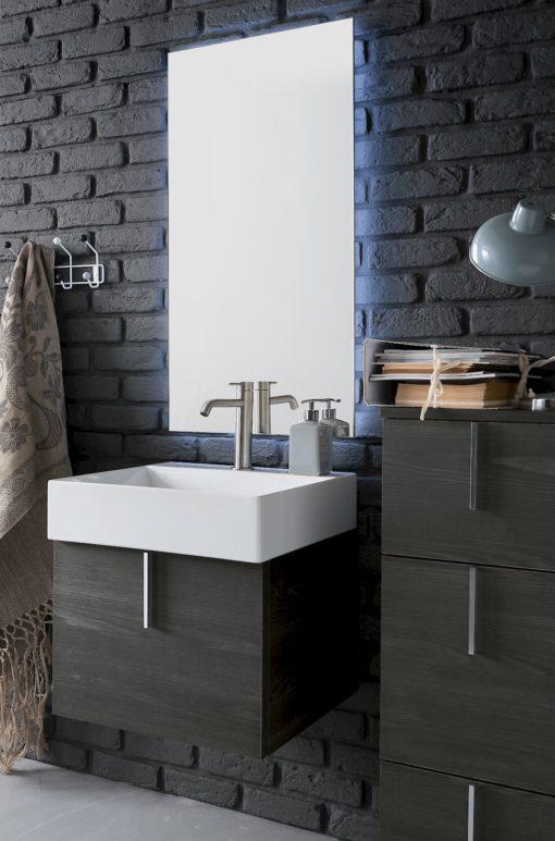 B201 75 Life - Mobile arredo bagno design L 51,5+35 x P 51,5/38 cm personalizzabile COMPAB