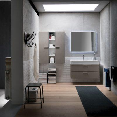 B201 77 Life - Mobile arredo bagno design L 95+97 x P 20,8/51,5 cm personalizzabile COMPAB