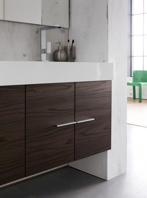 B201 79 Life - Mobile arredo bagno design L 142 x P 51,5 cm personalizzabile COMPAB