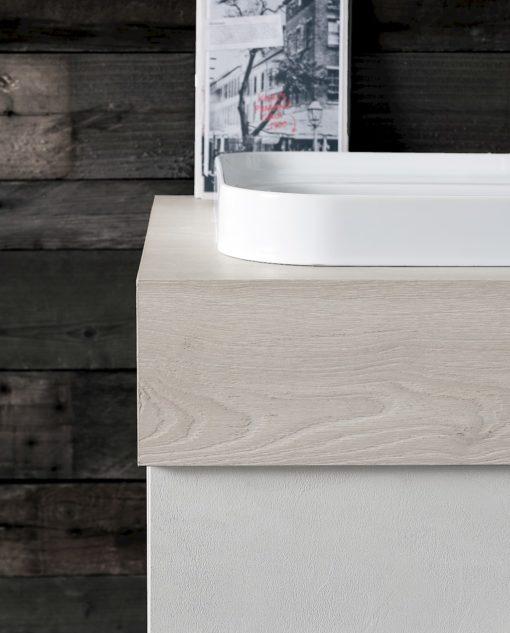 B201 80 Life - Mobile arredo bagno design L 71+50 x P 51/20,8 cm personalizzabile COMPAB