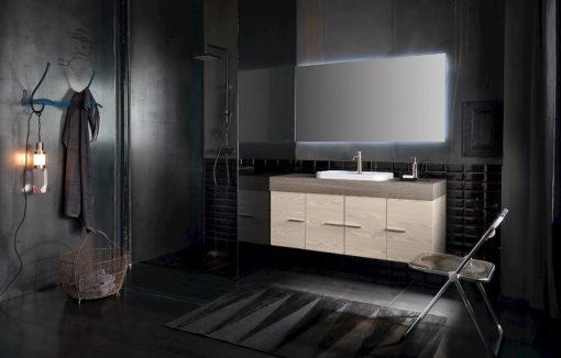 B201 83 Life - Mobile arredo bagno design L 141 x P 51 cm personalizzabile COMPAB