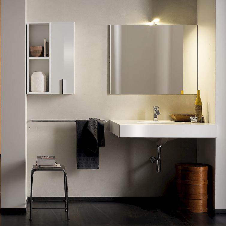 T125 01 mobile arredo bagno design l 50 95 cm - Mobile bagno 50 cm ...