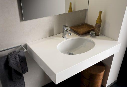 T125 01 - Mobile arredo bagno design L 50+95 cm personalizzabile COMPAB