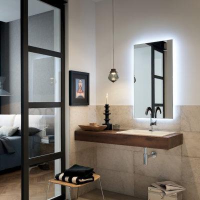 T125 05 - Mobile arredo bagno design L 120 x P 51 cm personalizzabile COMPAB