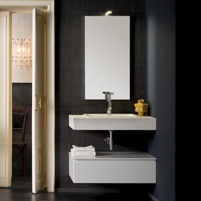 T125 06 - Mobile arredo bagno design L 85 x P 51 cm personalizzabile COMPAB