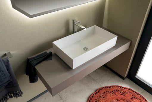 T125 07 - Mobile arredo bagno design L 25+120 x P 20,8/51 cm personalizzabile COMPAB