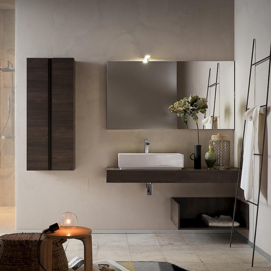 T125 08 mobile arredo bagno design l 50 140 x p 20 8 51 - Mobile bagno 50 cm ...