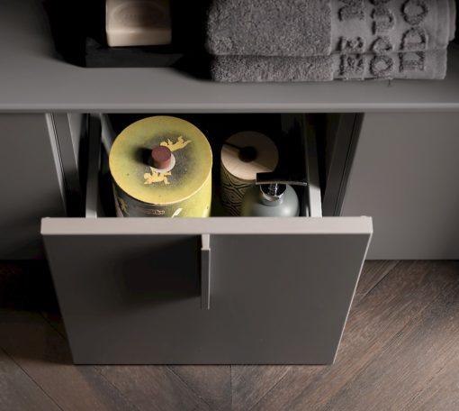 T125 09 - Mobile arredo bagno design L 105 x P 51 cm personalizzabile COMPAB