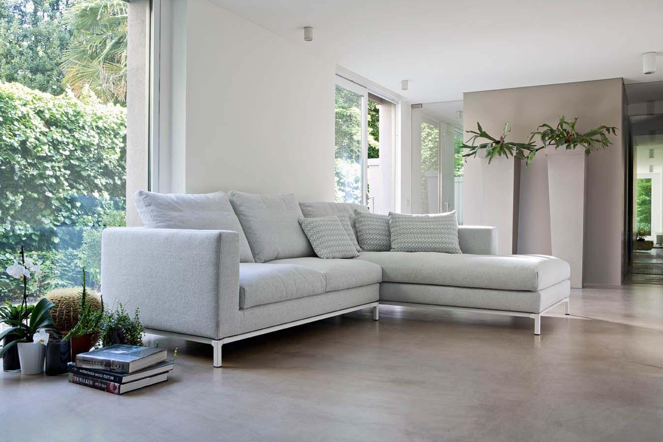 Colorado divano design moderno in tessuto o ecopelle - Divano moderno design ...