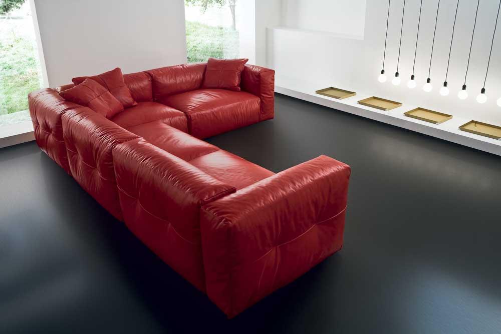 Fluffy divano design moderno in tessuto o ecopelle - Divano moderno design ...