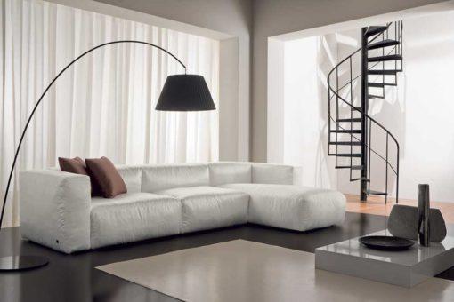 Fluffy - Divano design moderno in tessuto o ecopelle